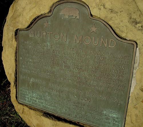 Burton Mound Marker