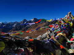 Cho La Pass-Everest Base Camp Trek-Nepal (mikemellinger) Tags: camp snow nature beauty trekking trek landscape la nationalpark scenery hiking pass hike snowcapped summit prayerflags region khumbu everest base cho himalayas chola gokyo sagarmatha
