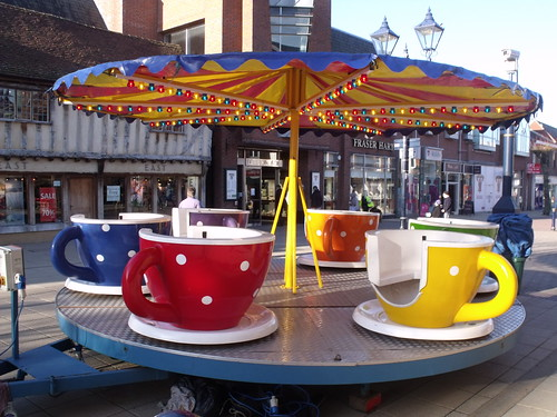 Tea Cup Ride on High Street, Solihull by ell brown