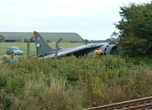 GR.7 ZD437 49 4Sqdn in the bushes Mike Kemp St Athan 210803