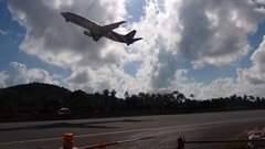 Koh Samui Thai Airways take off   (soma-samui.com) Tags: travel airplane thailand island airport asia jet resort samui koh takeoff  tg thaiairways          tourguidesoma soma    somasamuicom