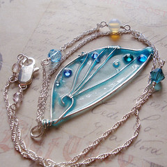 Pressed Faery WIngs: Cyan