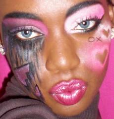 VDAY2 (SweetTooth Makeup) Tags: pink woman white black love broken female hearts tears day break purple heart o african magenta violet fuchsia makeup x v american vday valentines xo cosmetics xoxo heartbroken