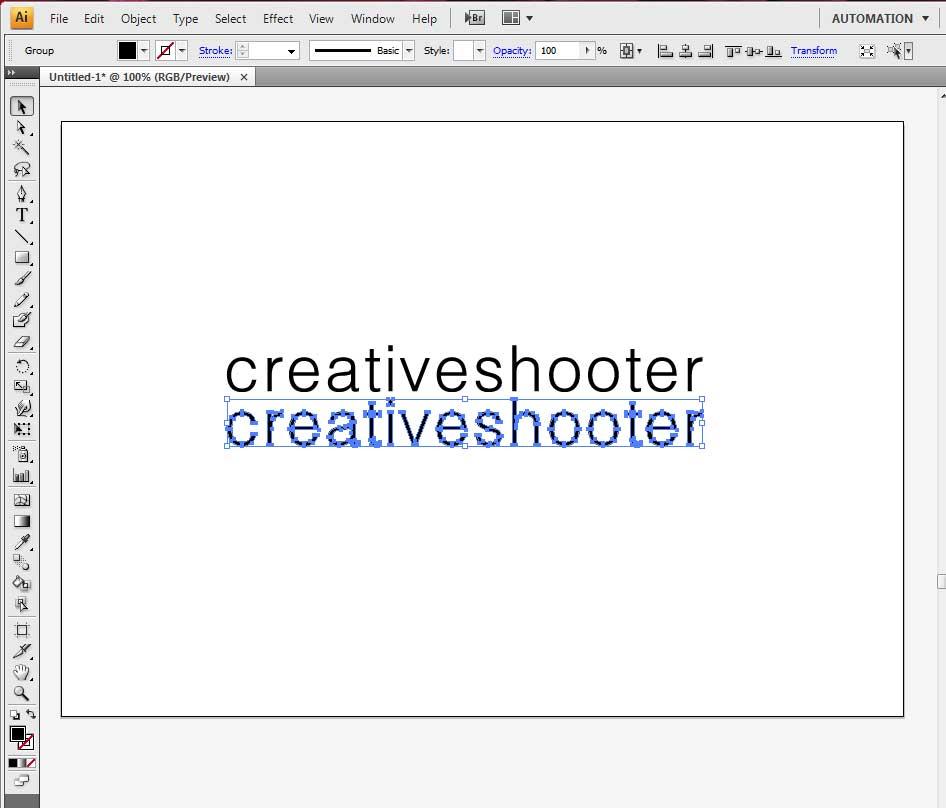 สร้างเงาสะท้อน illustrator