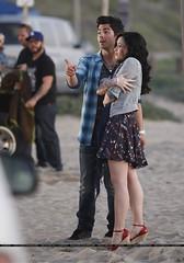 Joe Jonas and Demi Lovato (Allyyxx0) Tags: ca sunset usa beach romance malibu musicvideo joejonas demilovato disneyoceans