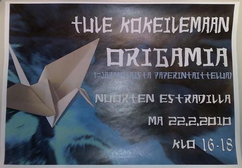 Origamia Entressen kirjastossa