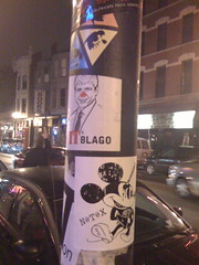 (theres no way home) Tags: wickerpark chicago graffiti design sticker head mickeymouse through stiletto yob notox itsblago n0t0x