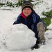 My son, Daniel Morgan at our home in Seranda north of Georgetown. He made one HUGE snowball! (TAMMY PARKS)