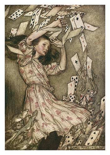 012-Alice's evidence-Alice's adventures in Wonderland-1907- Arthur Rackham