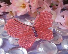 Handwoven Glass Bead Butterfly Pin (fivefootfury) Tags: butterfly bug insect spring wings pin handmade butterflies accessories beaded wingedinsect butterflypin fivefootfury