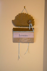 IMG_1841 (VaBoDesign) Tags: blue baby brown nature diy beige handmade linen stripes sew pillow cotton ribbon hedgehog sewingmachine homedecor skyblue embrodery vabo