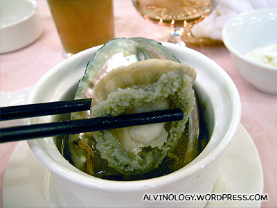 I ate two pieces as Nicholas do not eat abalone