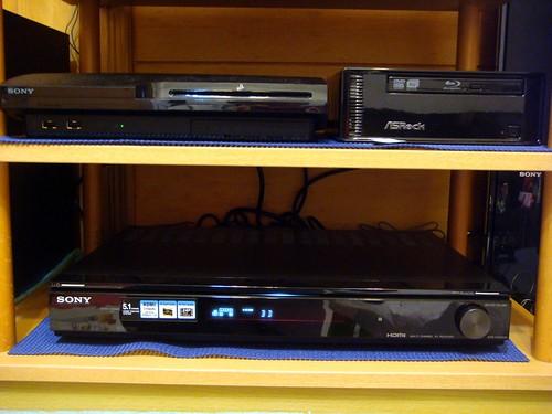 HT-SF360 擴大機、PS3 與 ION 準系統