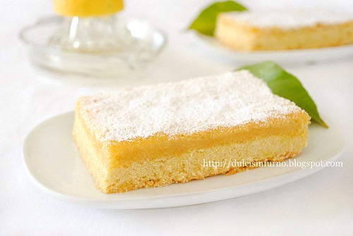 Tranci al Limone-Lemon Bars