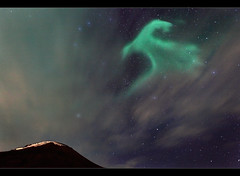 Mountain Nebula (orvaratli) Tags: travel winter sky cloud mountain night stars landscape island iceland arctic aurora ísland reykjanes northernlights borealis icelandic kleifarvatn norðurljós top20aurora arcticphoto örvaratli orvaratli