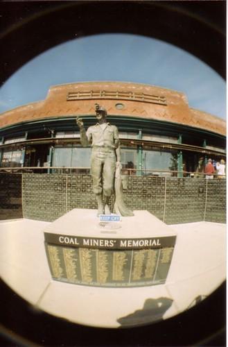 fisheye Miners Memorial