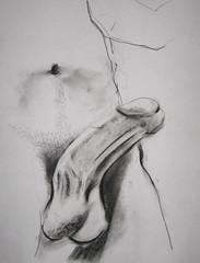 Pencil Sketch Naked Schoolgirl