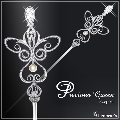 Precious Queen scepter white
