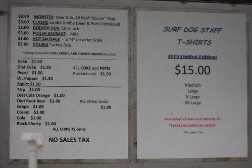 Surf Dog menu