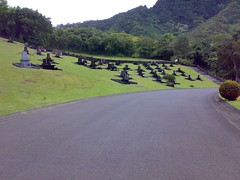 Japanese-style tombstones