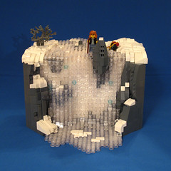 Nary a Trickle (-Mainman-) Tags: snow ice frozen waterfall blood post lego contest apocalypse 2010 nary apoc trickle apocalego 1apr10