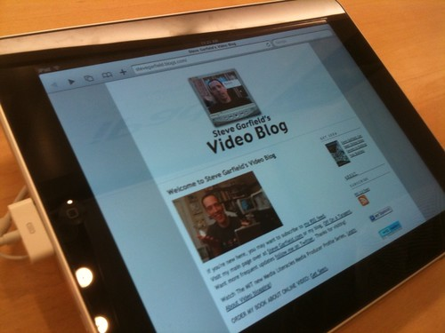 Steve Garfield's Video Blog on iPad