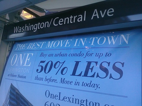 One Lexington ad at light rail station