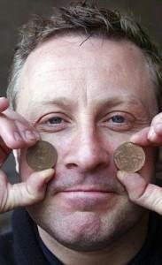 Coin-throwing poltergeist