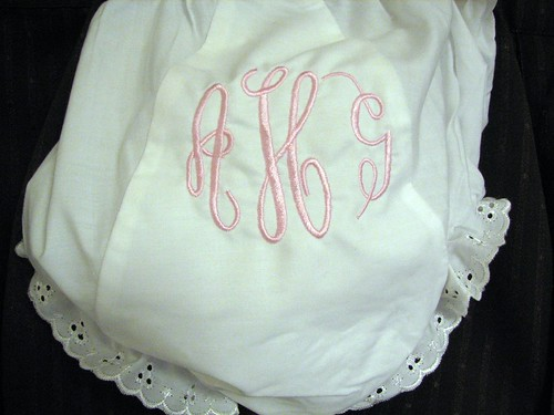 Empire monogram on bloomers