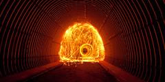 The Spin #2 (Vaidas M) Tags: lightpainting leeds tunnel steelwool sigma1020mmf456exdchsm meanwoodvalleytrail nikond90 dwcfflightpaint