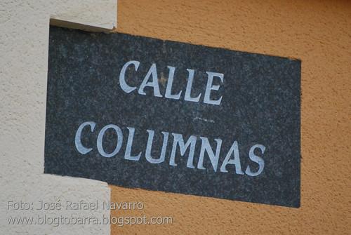 Placas - Calle Columnas