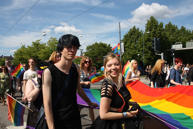 Rainbowparade in Gothenburg