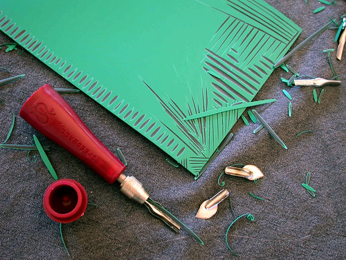 lino cutting experiments
