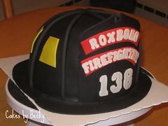 Fireman's Helmet Birthday Cake (ButRCream) Tags: birthdaycake firefightercake firemanshelmetcake 3dfiremanshelmetcake