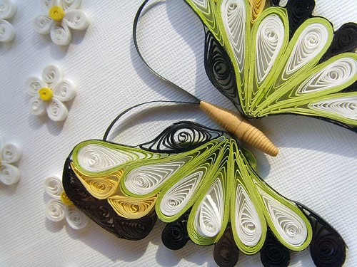 Quilling paper picture Flowers / Creartive Shop