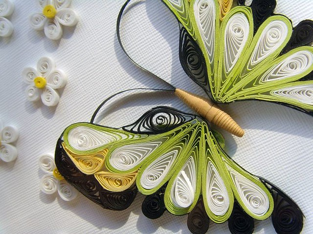 Quilling paper picture Flowers