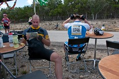 Map Check (benrobertsabq) Tags: bike bicycle cycling cyclist athlete cancersurvivor amputee brettweitzel livestrongchallengeaustin2009