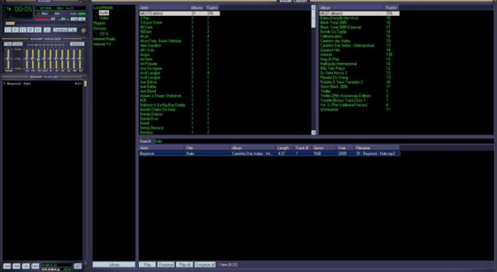 Screen do Winamp 2.91.