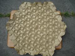Seed Pod Tessellation - Back Full (brdparker) Tags: art origami paperfolding brdparker benjaminparker