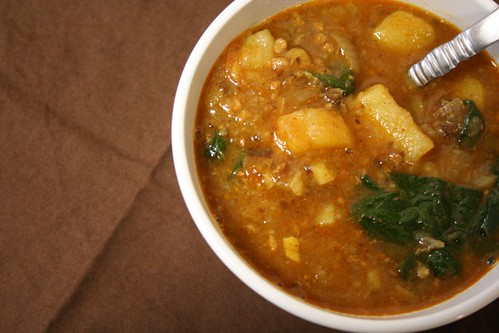 Sweet Potato and Sausage Soup – The Kitchen Illiterate
