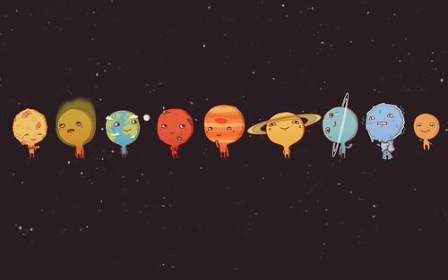 Los planetas en caricatura