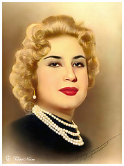 H.M. Queen Narriman Of Egypt (R) (Tulipe Noire) Tags: africa portrait king formal egypt middleeast kingdom farouk queen cairo 1950s egyptian wife narriman