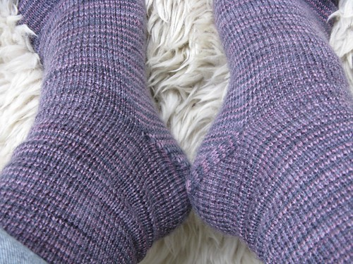 Pink Granite socks