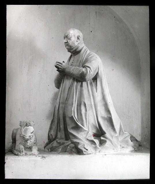 Estatua de Pedro Cameno en San Pedro Mártir a inicios del siglo XX. Ateneo de Madrid