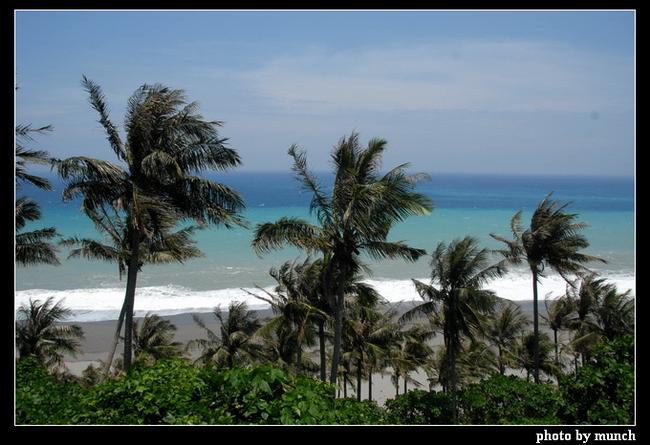 圖說:海岸邊的優美林帶,可不是公園造景,多數是防風保安林帶,一旦進行BOT,林務局參與土地解編,甚至如墾丁大灣的防風林帶開發,林務局本身就是包山包海BOT的推動者。(台東。椰林海濱)