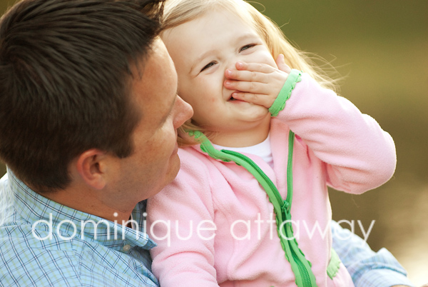 daddy and little girl laughing