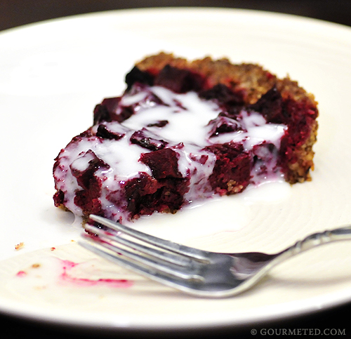 Creamy Sweet Beet Pie with Yogurt Syrup