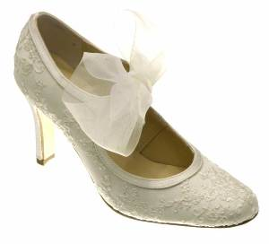 Unique wedding shoes.