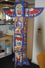 Eco-friendly, printed totem pole