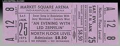 Led Zeppelin Concert Ticket Stub (Paneeks) Tags: ledzepplinticketstubs 1969 1970 1971 1972 1973 1975 1977 1979 1980 jimmypage robertplant johnpauljones johnbonham